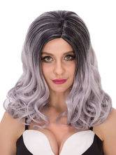 Anime Costumes AF-S2-635041 Halloween Curly Wigs Long Ombre Hair Women's Layered Side Parting Synthetic Wigs