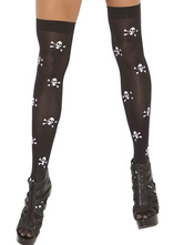 Anime Costumes AF-S2-639381 Skull Print Stocking Halloween Knee-High Socks
