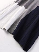 abd7ef04eb29 ... Maglia abito manica lunga Multicolor donna oversize Shift Dress-No.6