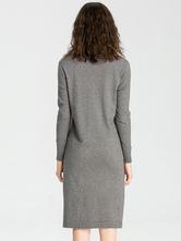 f56b351430af ... Maglia abito manica lunga Multicolor donna oversize Shift Dress-No.5 ...