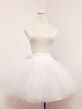 Süße Lolita Petticoat weißem Tüll ohne Knochen abgestufte kurze Lolita Unterrock Lolita Accessoires 2018