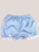 Lolitashow Sweet Lolita Bloomers Plaid Lace Ruffle Bows Short Pumpkin Pants