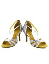 Zapatos de bailes latinos de PU color liso a medidas J7661M6Nn