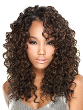 Anime Costumes AF-S2-641075 Women's Wigs Hair African American Brownish Black Long Curly Synthetic Wigs