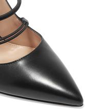 Zapatos de tacón de PU negros Color liso con botones EvGQovq