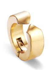 Men's Hoop Earrings Gold Stainless Steel Clip On Earrings