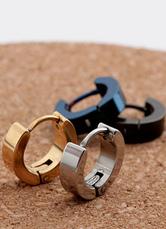 Men's Hoop Earrings Stainless Steel Pierced Earrings