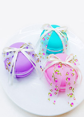Wedding Favor Boxes Floral Ribbon Bow Round Small Gift Boxes