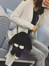 Lolitashow Lolita Bunny Bag Black Plush Rabbit Chain Handbag