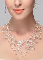 White Wedding gioielli strass nuziale collana di perle