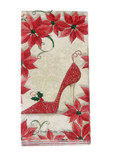 Red Wedding Napkins Flowers High Heel Printed Party Napkins(5 Packs/lot, 10 Pcs/pack)