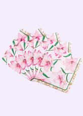 Floral Wedding Napkins Pink Lily Flower Printed Paper Napkins(20pcs/pack)