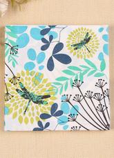 Wedding Party Napkins White Plant Theme Printed Paper Napkins (20 Pcs A Pack)