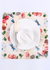 Wedding Party Napkins Ivory Printed Paper Napkins(20 Pcs A Pack)