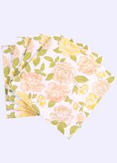 Wedding Party Napkins Beige Floral Printed Paper Napkins ( 20Pcs A Pack )