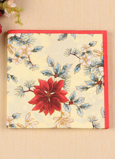 Wedding Party Napkins Red Floral Printed Paper Table Placemats (20pcs Per Pack)