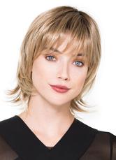 Anime Costumes AF-S2-653073 Short Hair Wigs Flaxen Straight Women's Outward Synthetic Wigs With Bangs