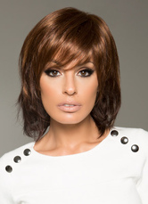 Anime Costumes AF-S2-651795 Synthetic Short Wigs Brown Women's Side Swept Layered Straight Hair Wigs