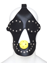 Anime Costumes AF-S2-651635 Black Leather Mask Stud Fashion Eye Patch Sexy Toy