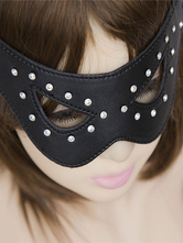 Anime Costumes AF-S2-651693 Sexy Eyepatch Costume Black PU Rivet Party Costume Eye Mask