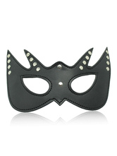Anime Costumes AF-S2-651699 Black Sexy Toy Solid Color PU Beaded Eye Patch