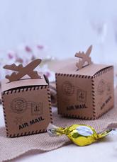 Свадьба пользу коробка темно-коричневый самолет деталь античный дизайн маленький Подарочная коробка