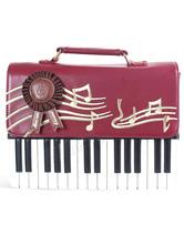 Lolitashow Fashion Piano Design PU Handbag for Lolita Girls