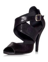 Chaussures de danse latine à talon aigu en satin