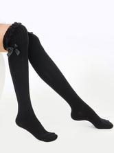 Chaussettes synthétiques Lolita Bow marron