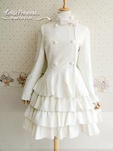 Lolitashow Long Sleeves Layered Wool Blend Lolita Dress
