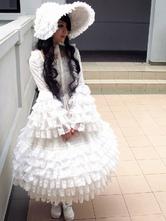 White Lace Lolita Dress for Women