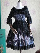 Gothic Lolita Accessories Chiffon Bow Ruffle Lolita Overskirt