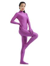 Halloween Morph Suit Purple Lycra Spandex Catsuit