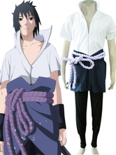 Sasuke Uchiha in Naruto cosplay costume con grembuile e cintura  Carnevale