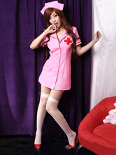 Anime Costumes AF-S2-377441 Halloween Pink Sexy Nurse Costume