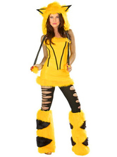 Anime Costumes AF-S2-365925 Halloween Yellow Terry Fashion Catwoman Costume for Women