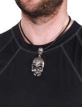 Déclaration collier Skull Punk pendentif masculine
