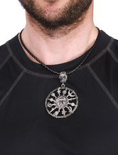 Men's Statement Necklace Skull Solar System Round Pendant Necklace
