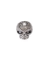Anelli stile Punk lega cranio anello uomo in argento