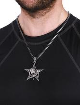 Stelle lega catena istruzione collana ciondolo collana maschile in argento