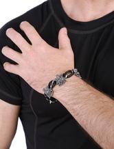 Bracciale Punk stile lega fascino bracciale uomo in argento