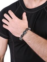 Bracciale Teschio Punk stile lega cavo catena fascino bracciale uomo in argento