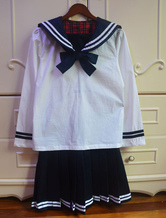 Anime Costumes AF-S2-578467 Two-Tone Tie School Cloth Uniform Costume