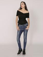 Multi Style Women's Black Sexy Top