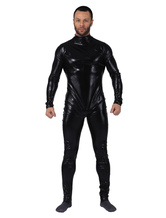 Anime Costumes AF-S2-4842 Cheap Halloween Black Shiny Metallic Catsuit