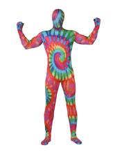Morph Suit Colorful Zentai Suit Painted Full Body Lycra Spandex Bodysuit Unisex Full Body Suit