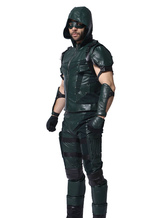 Anime Costumes AF-S2-569975 Arrow Oliver Queen Faux Leather Cosplay Costume Deluxe Edition