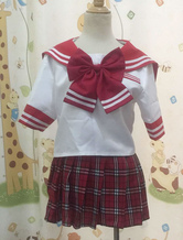 Anime Costumes AF-S2-34173 Red Short Sleeves Sailor School Uniform Cosplay Costume
