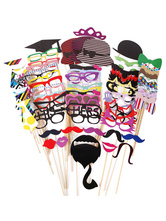 AF-S2-660595 Party Photo Props Multicolor Paper Booth Props In 76 Pcs