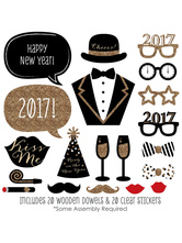 Anime Costumes AF-S2-660569 Photo Booth Props 2017 Happy New Year Gentle Man 's Photo Props In 20 Pcs